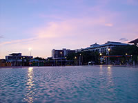 The Cairns Esplanade Lagoon Development by Night